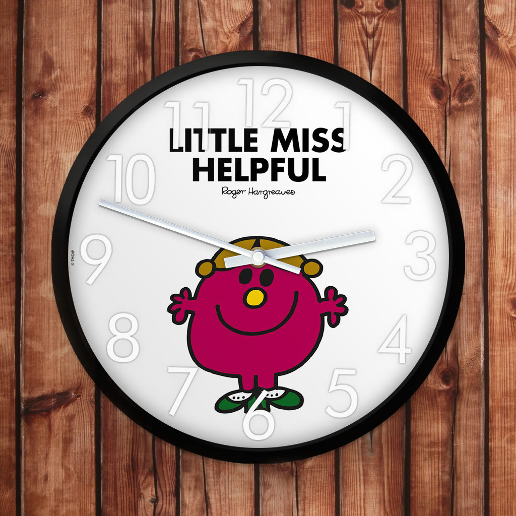 Little Miss Helpful Personalised Clock (Lifestyle)
