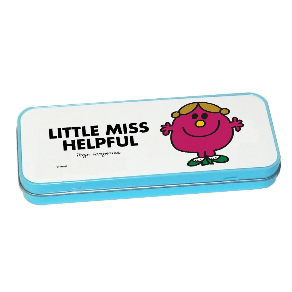 Little Miss Helpful Pencil Case Tin (Blue)