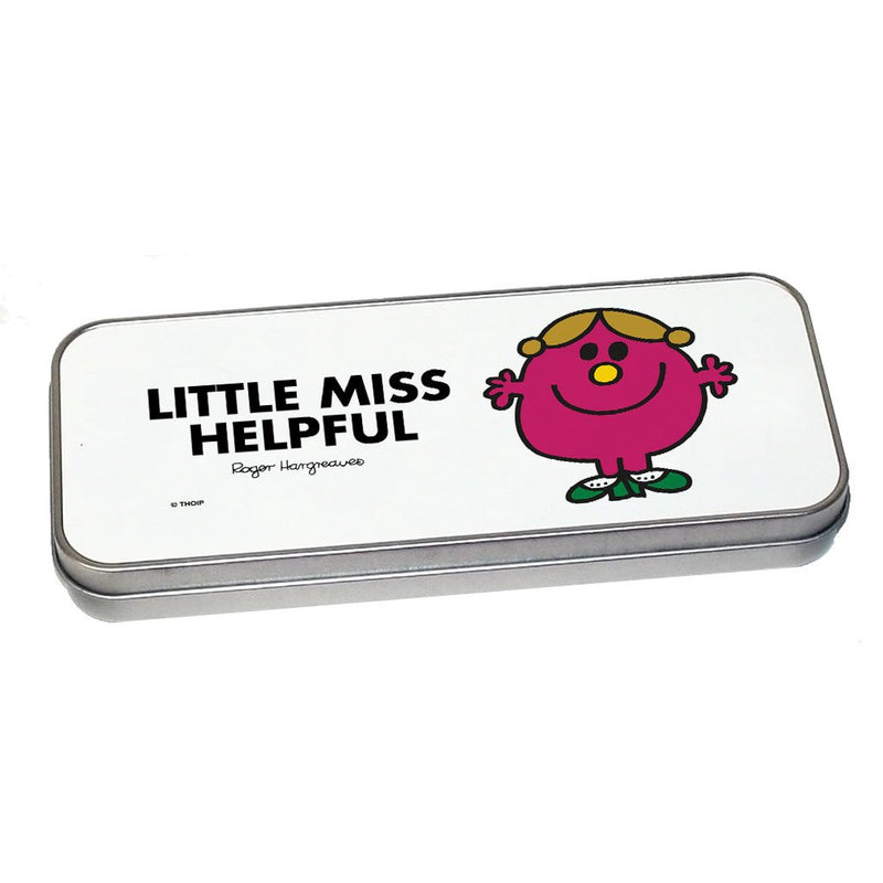 Little Miss Helpful Pencil Case Tin (Silver)