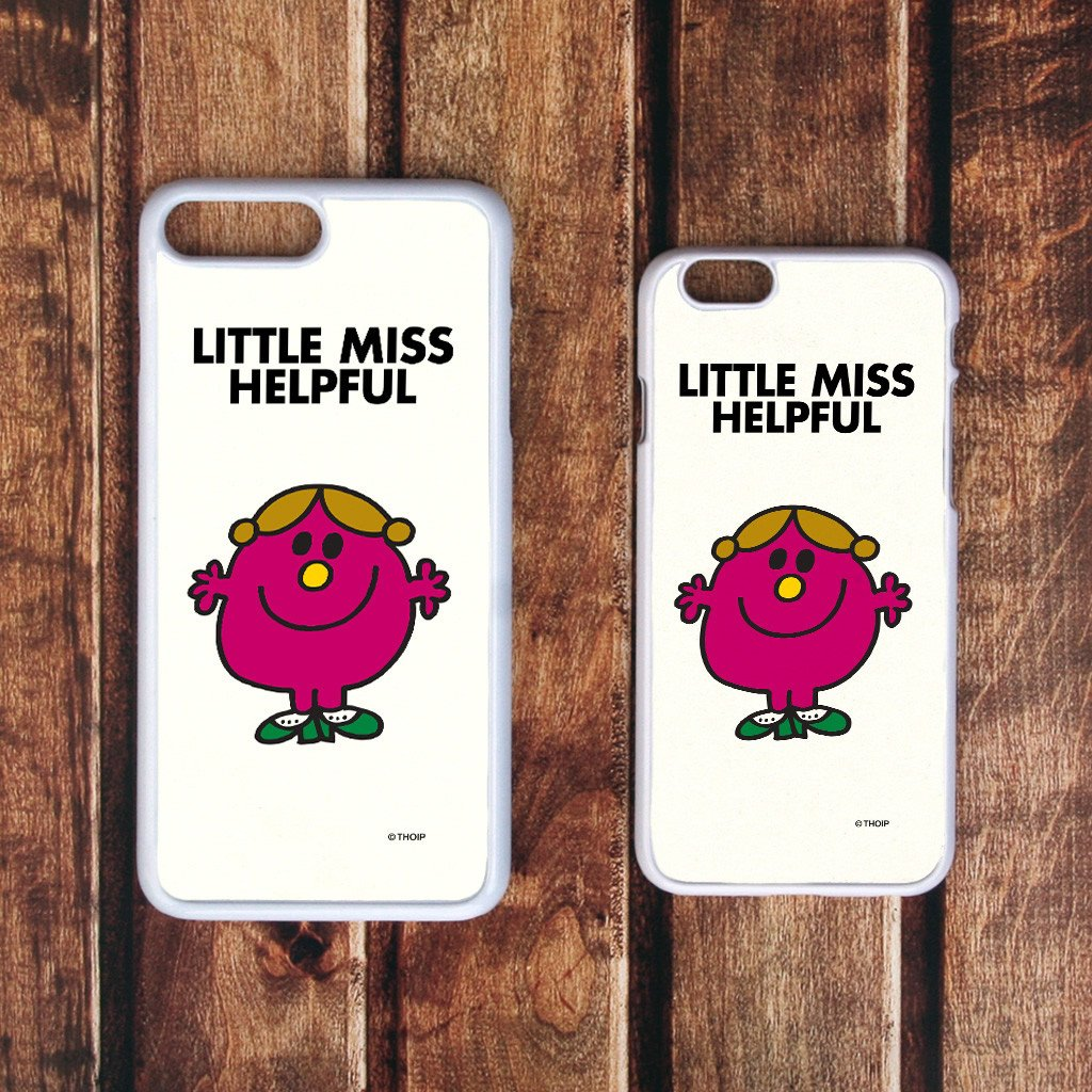 Little Miss Helpful White Phone Case (Lifestyle)