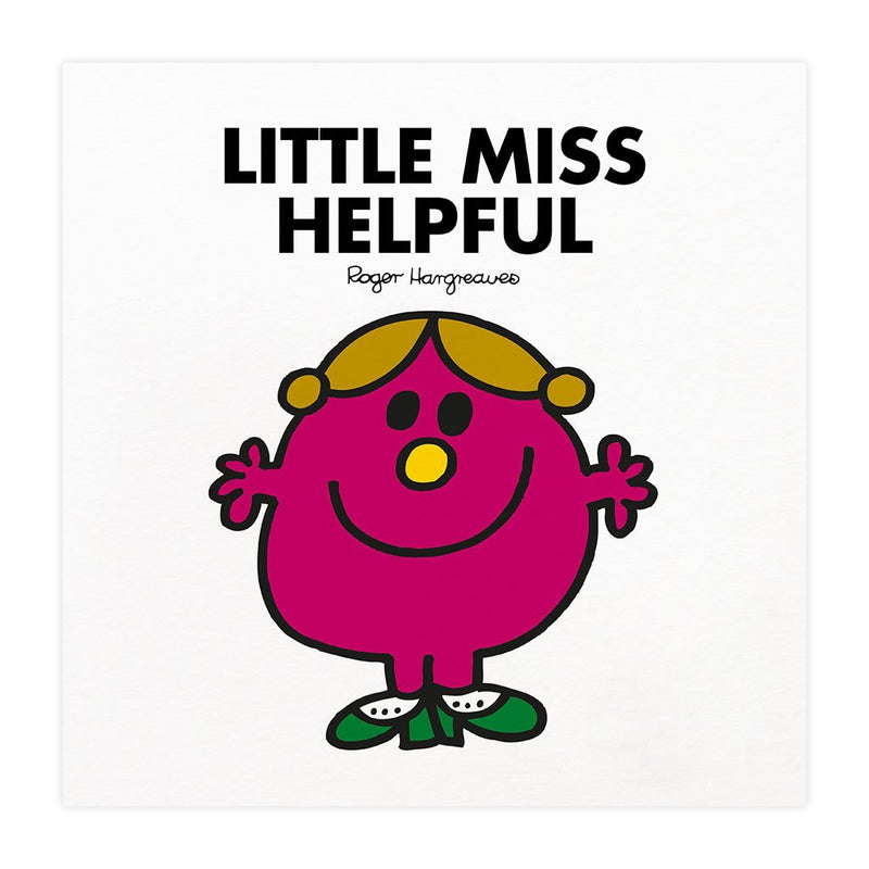 Little Miss Helpful Mounted Art Print