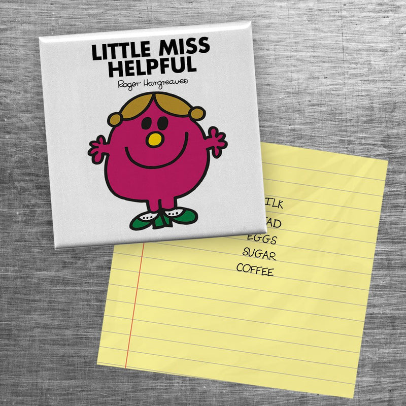 Little Miss Helpful Square Magnet (Lifestyle)
