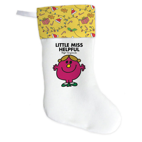 Little Miss Helpful Christmas Stocking (Front)