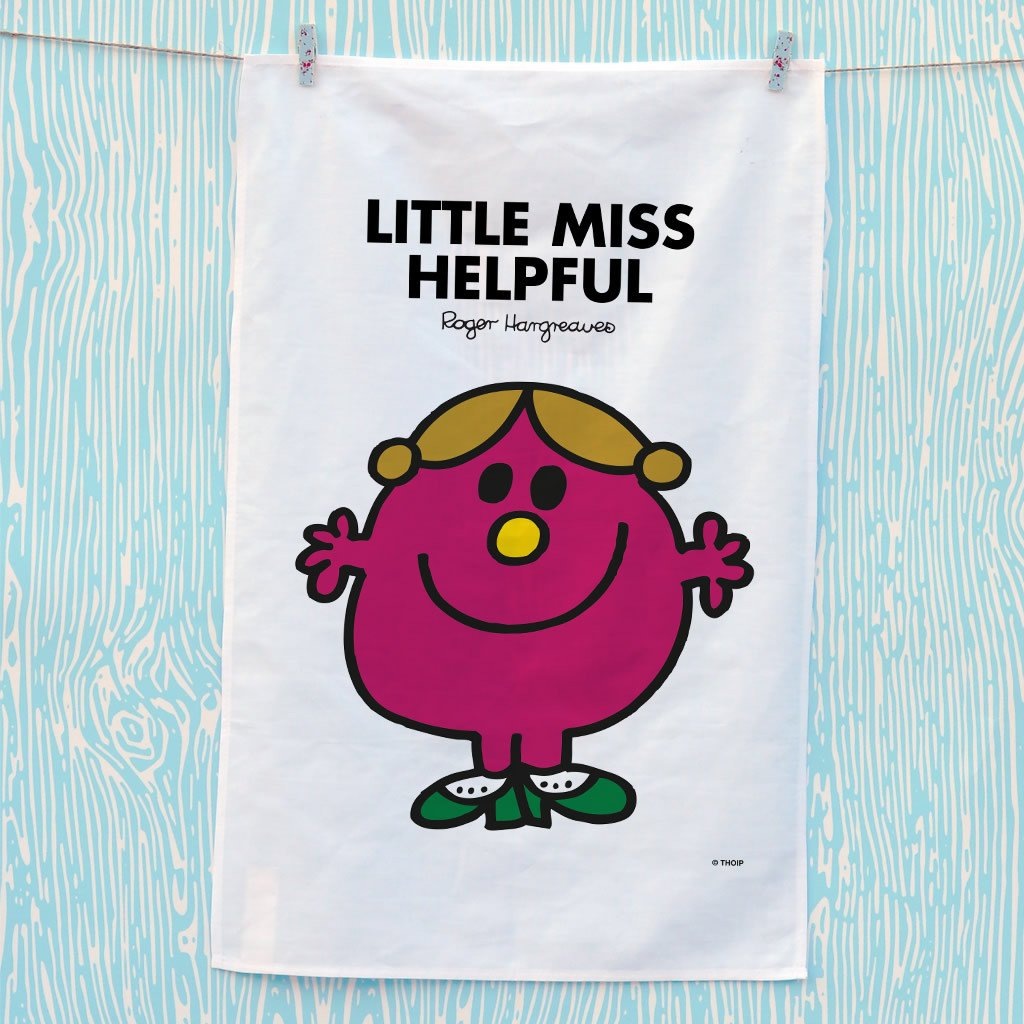 Little Miss Helpful Tea Towel (Lifestyle)