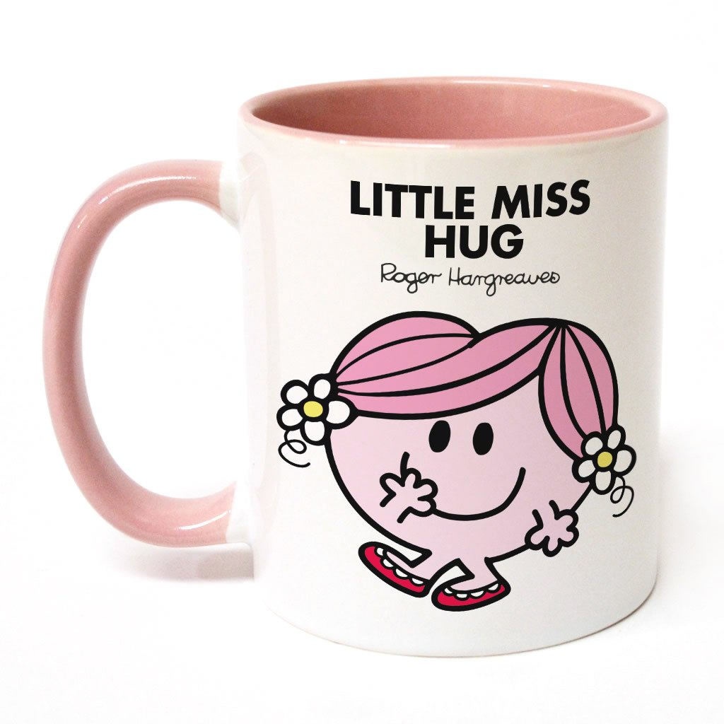 Little Miss Hug Large Porcelain Colour Handle Mug