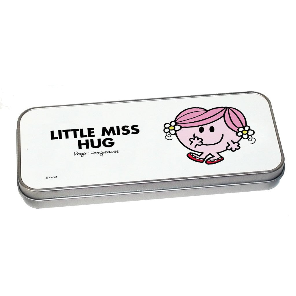Little Miss Hug Pencil Case Tin (Silver)