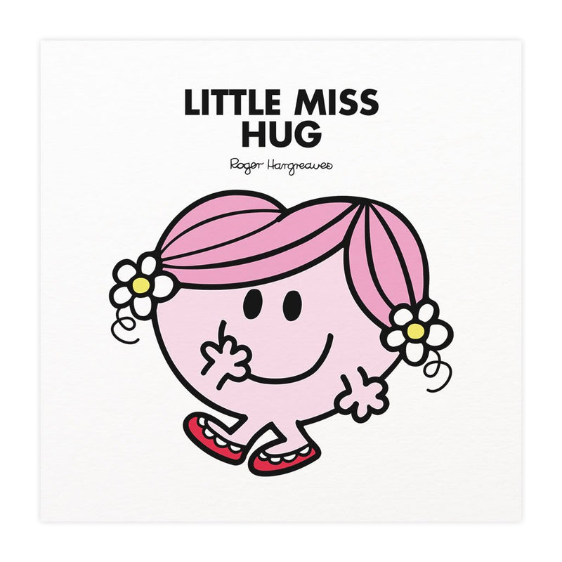 Little Miss Hug Mounted Art Print