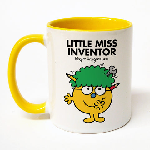Little Miss Inventor Large Porcelain Colour Handle Mug