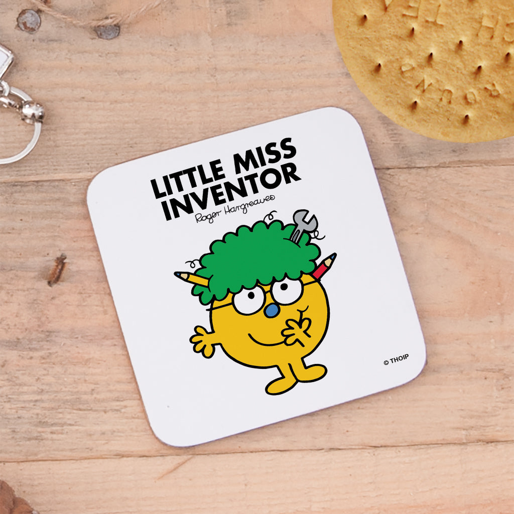 Little Miss Inventor Cork Coaster