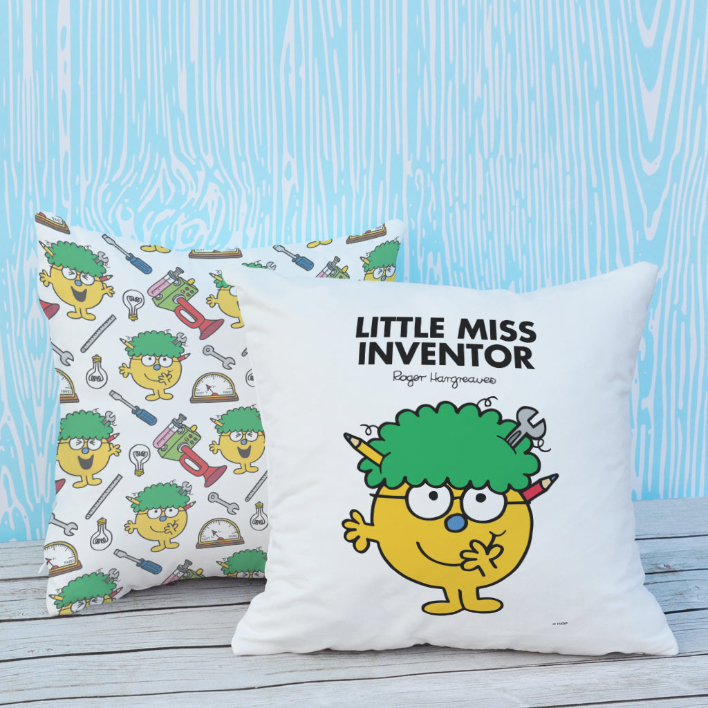 Little Miss Inventor Micro Fibre Cushion