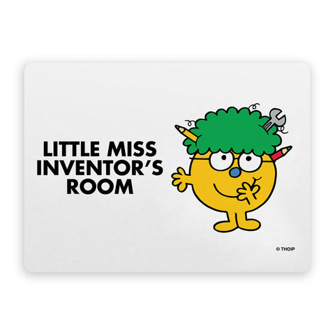 Little Miss Inventor Door Plaque