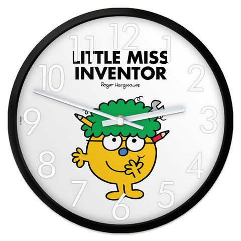 Little Miss Inventor Personalised Clock