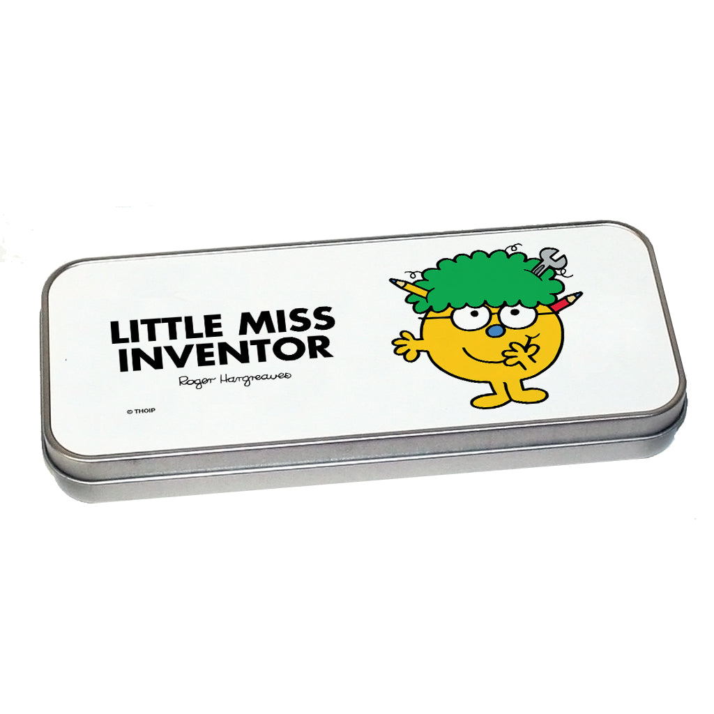 Little Miss Inventor Pencil Case Tin