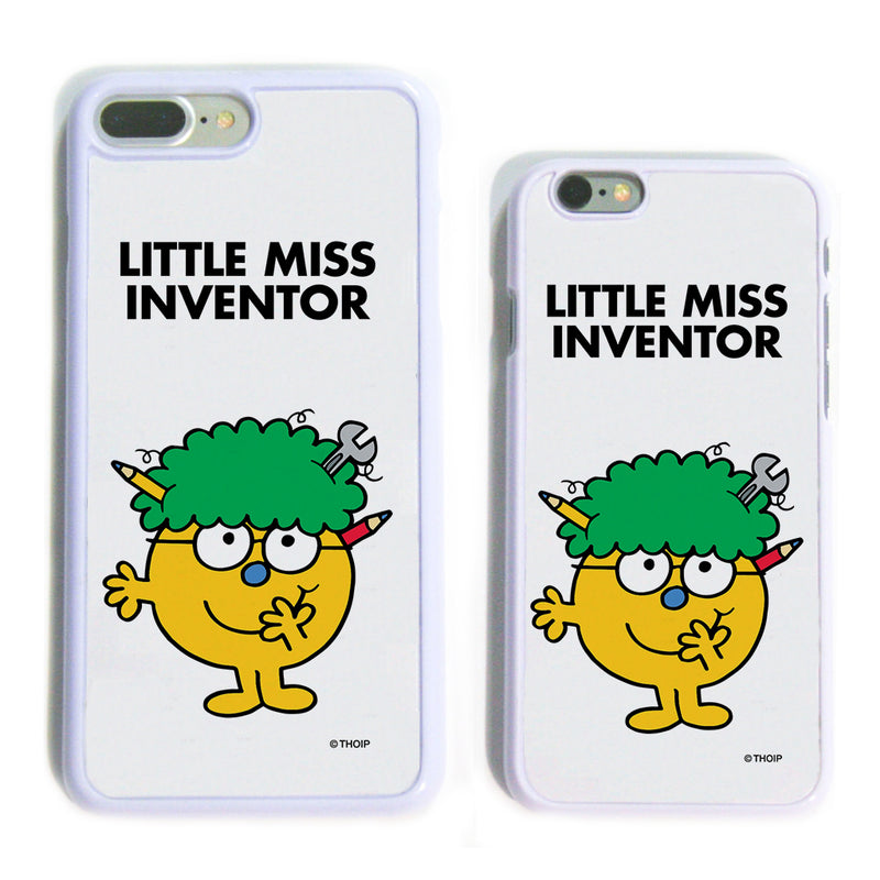 Little Miss Inventor White Phone Case