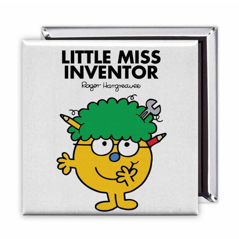 Little Miss Inventor Square Magnet