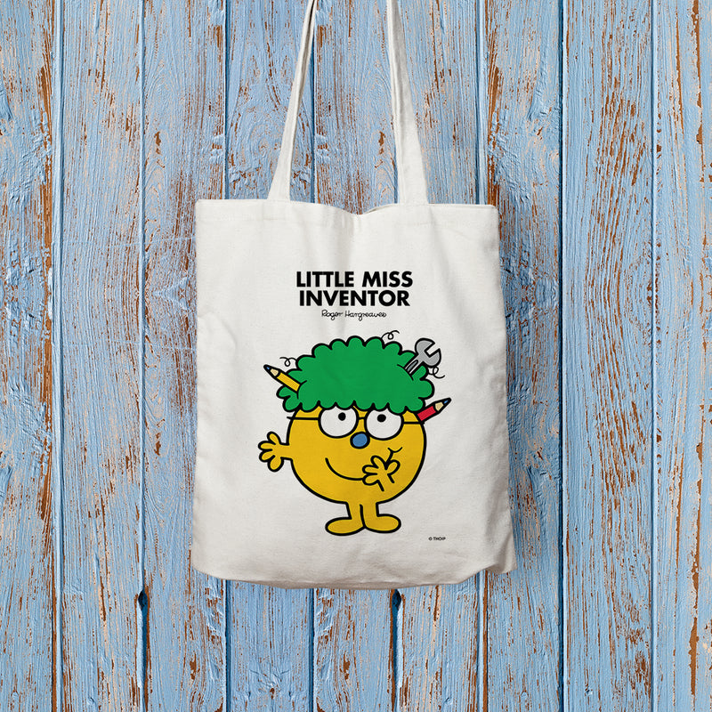 Little Miss Inventor Long Handled Tote Bag