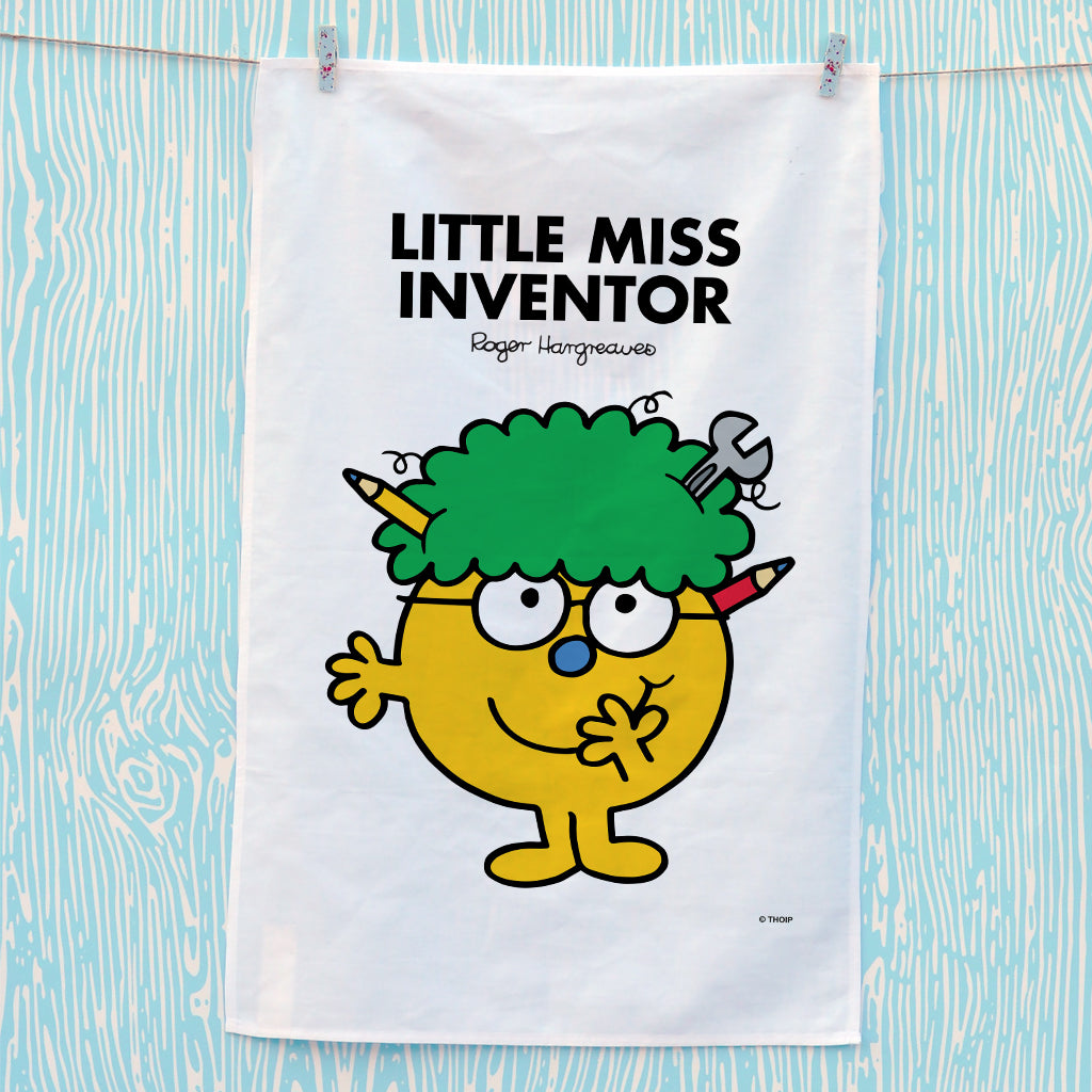 Little Miss Inventor Tea Towel