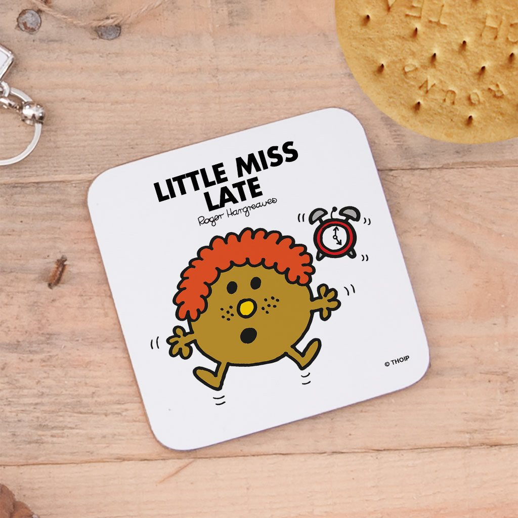 Little Miss Late Cork Coaster (Lifestyle)