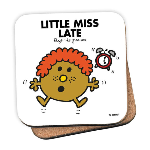 Little Miss Late Cork Coaster