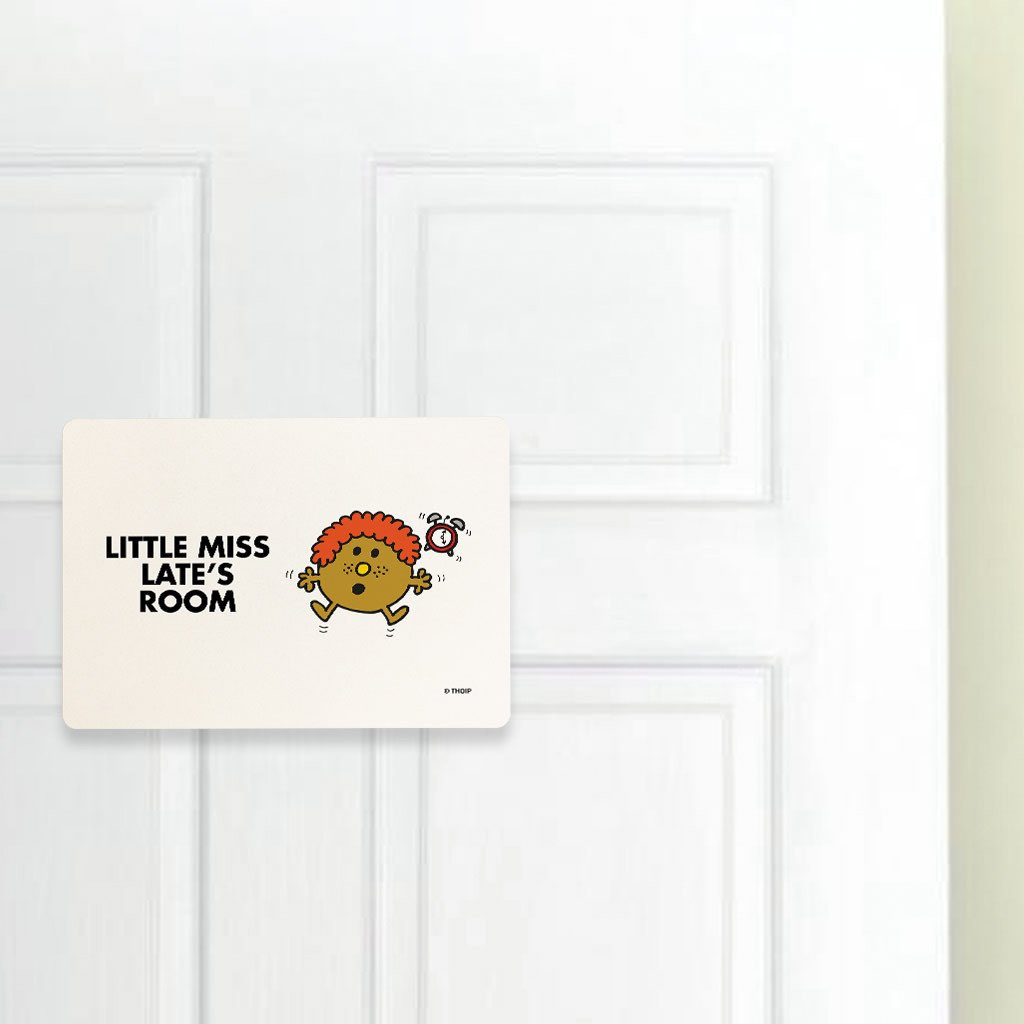 Little Miss Late Door Plaque (Lifestyle)