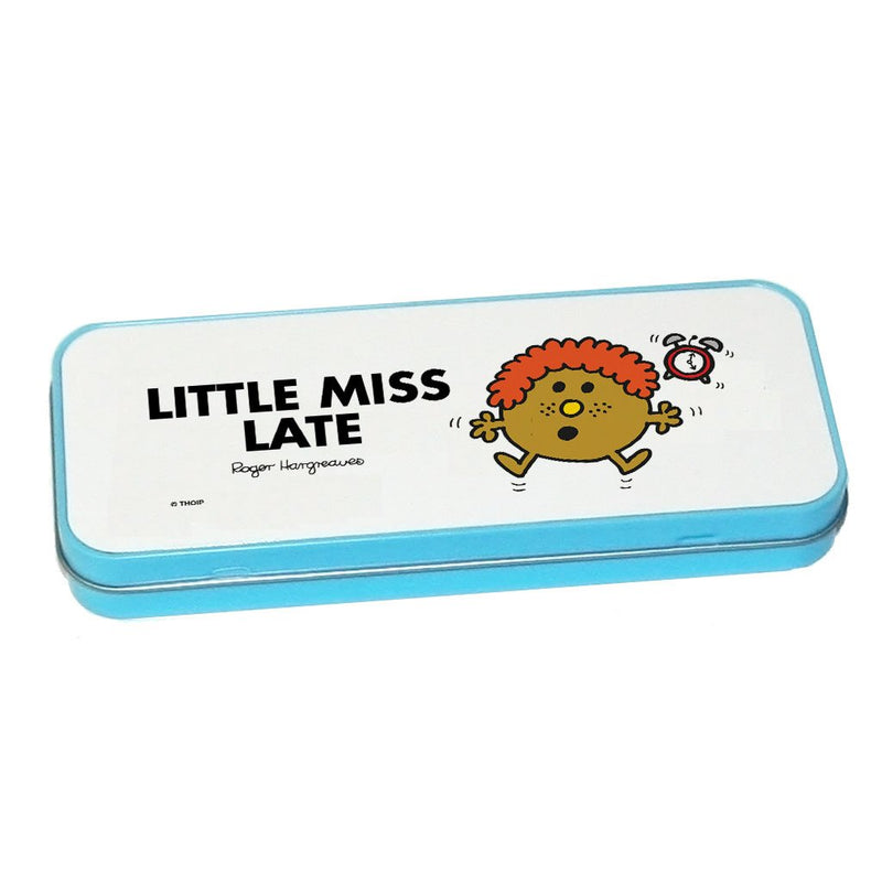 Little Miss Late Pencil Case Tin (Blue)
