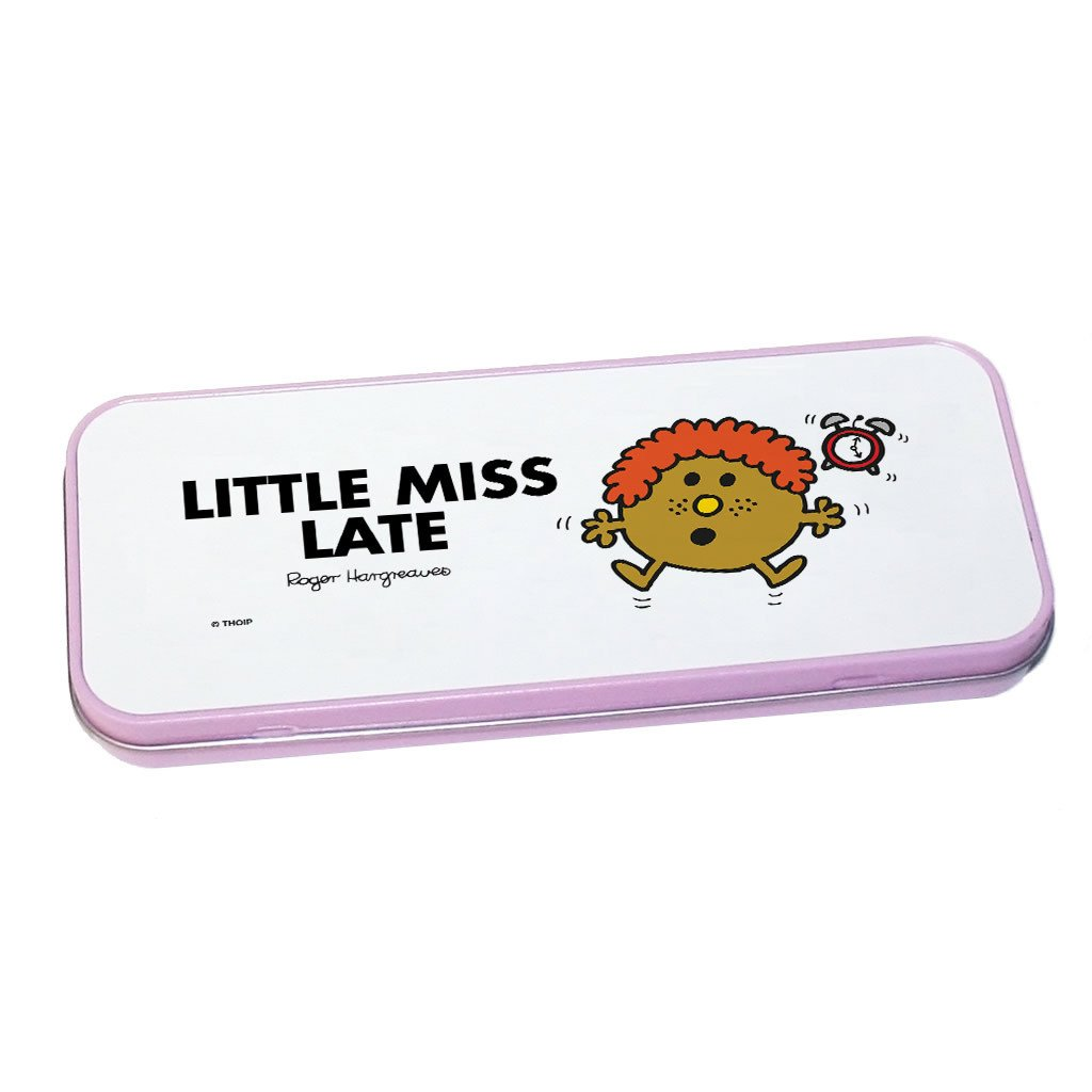Little Miss Late Pencil Case Tin (Pink)