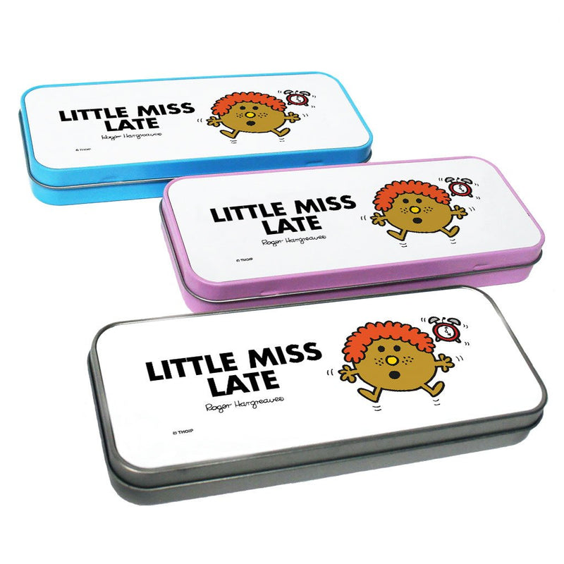 Little Miss Late Pencil Case Tin