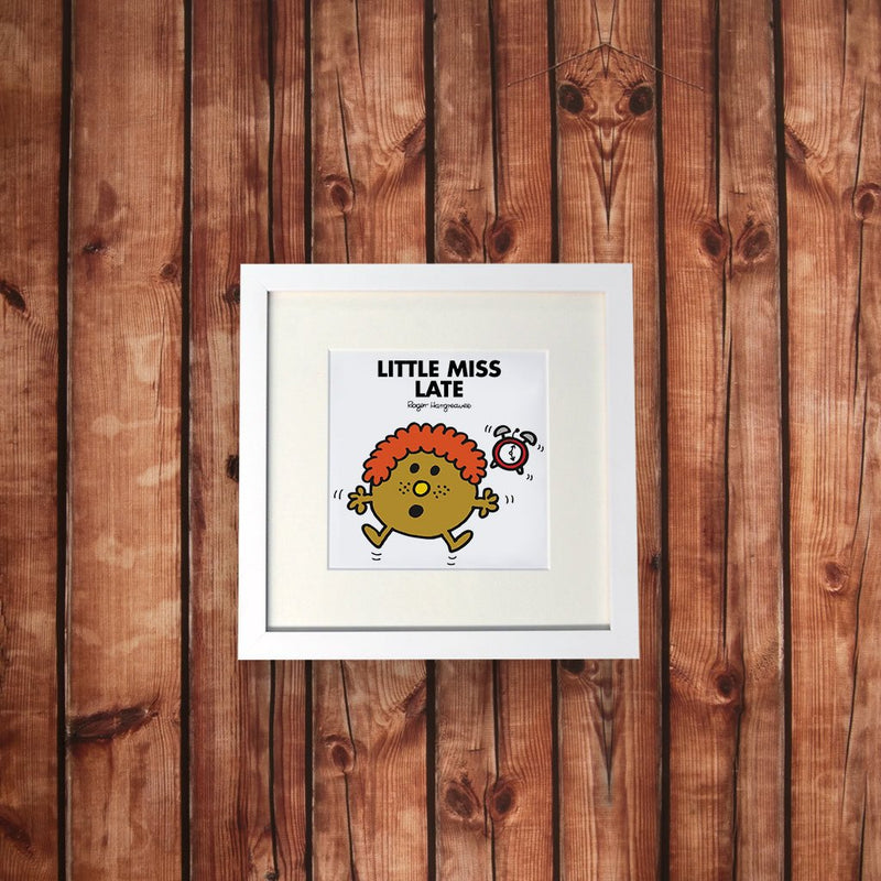 Little Miss Late White Framed Print (Lifestyle)