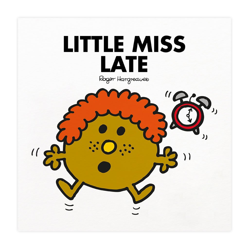 Little Miss Late Mounted Art Print