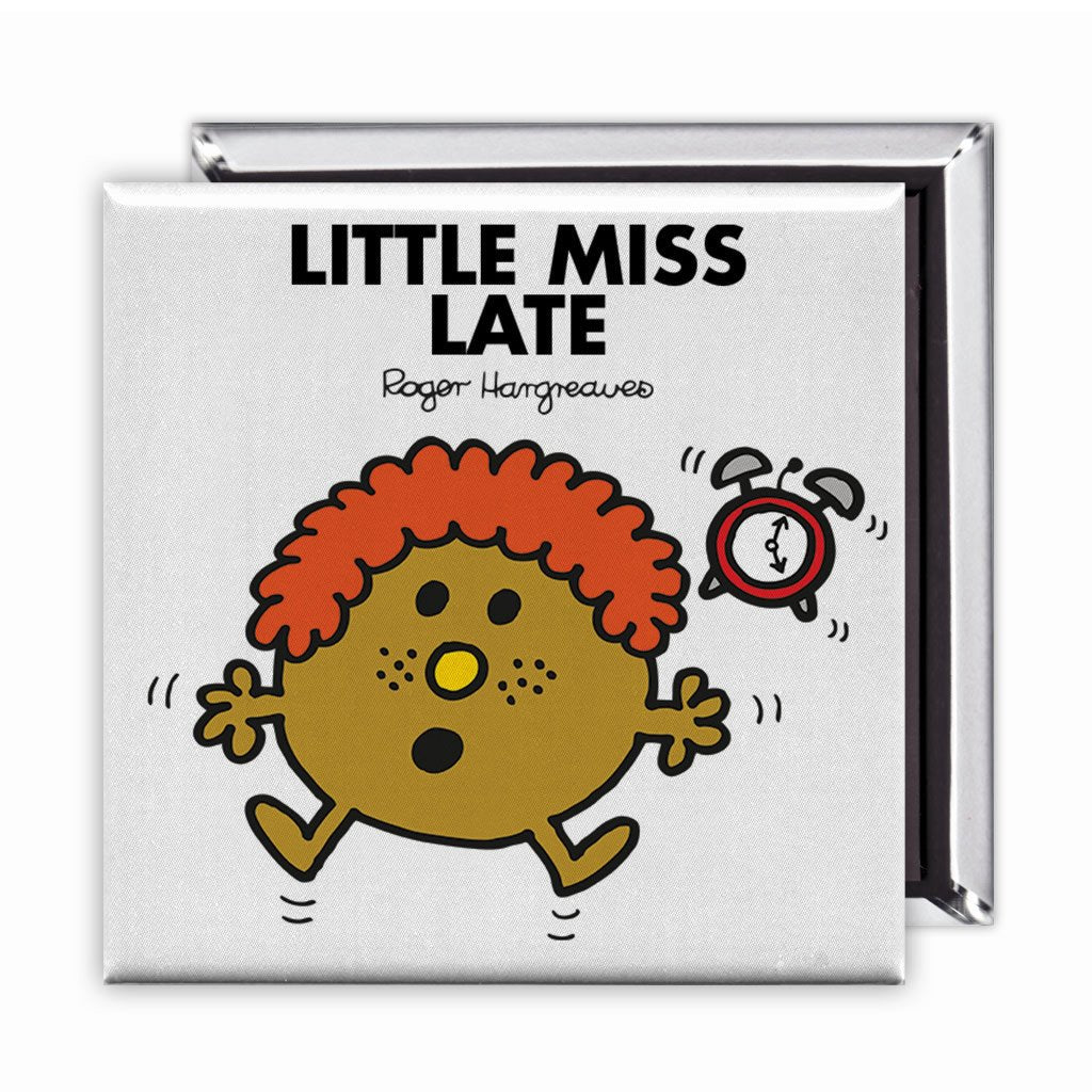 Little Miss Late Square Magnet