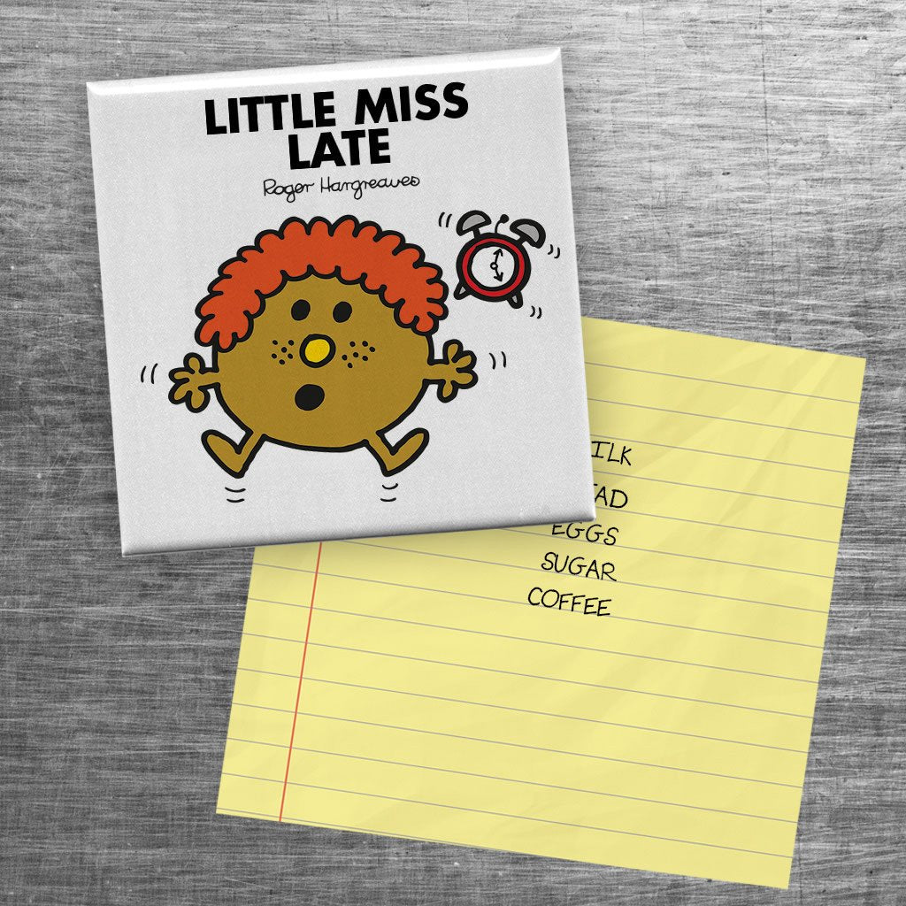Little Miss Late Square Magnet (Lifestyle)