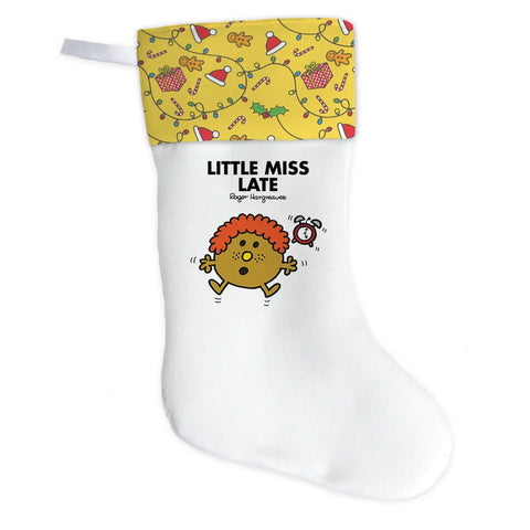Little Miss Late Christmas Stocking (Front)