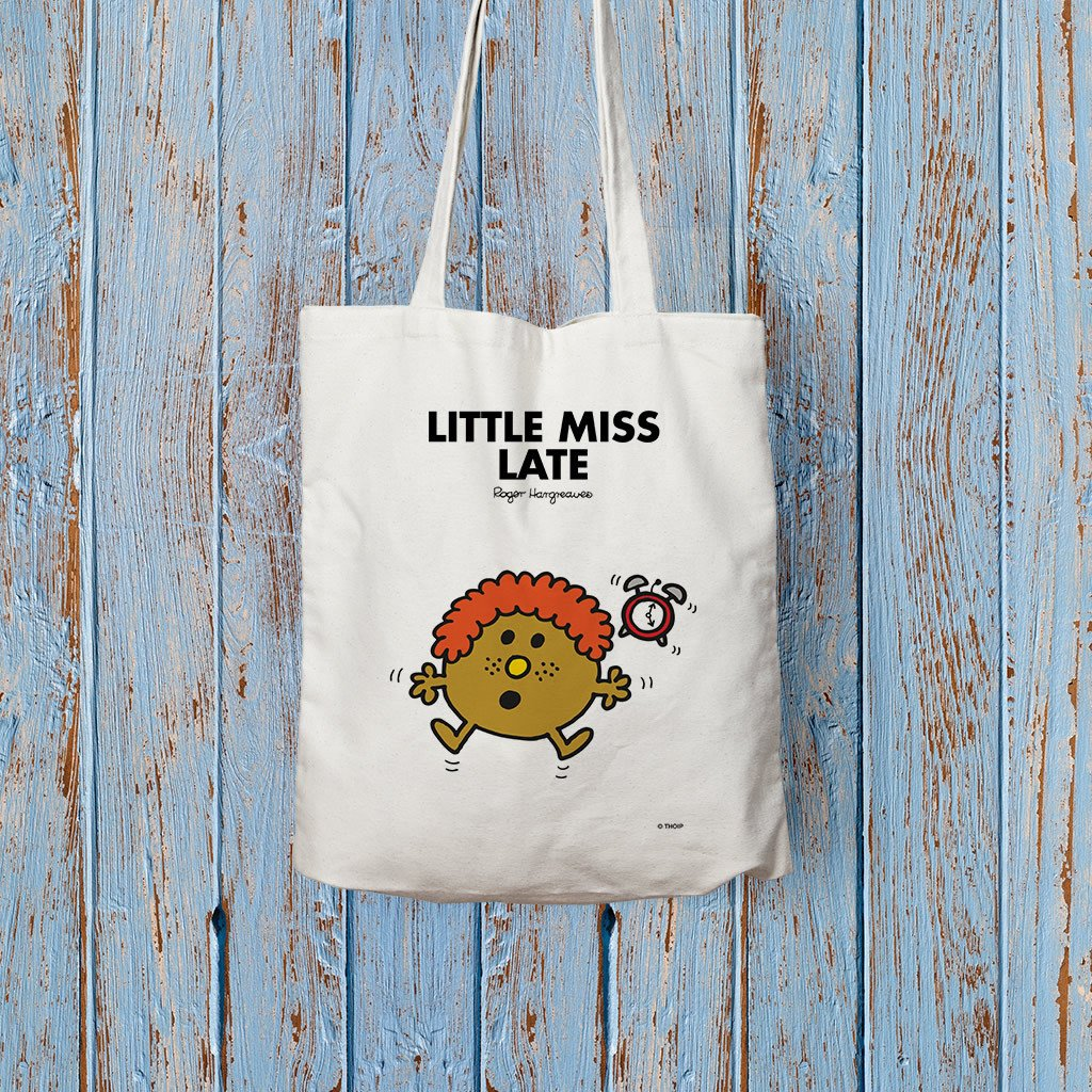 Little Miss Late Long Handled Tote Bag (Lifestyle)