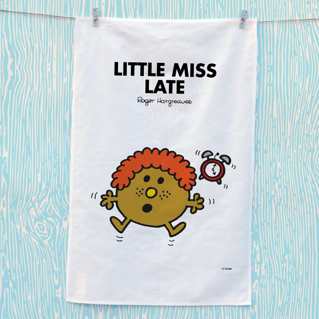 Little Miss Late Tea Towel (Lifestyle)