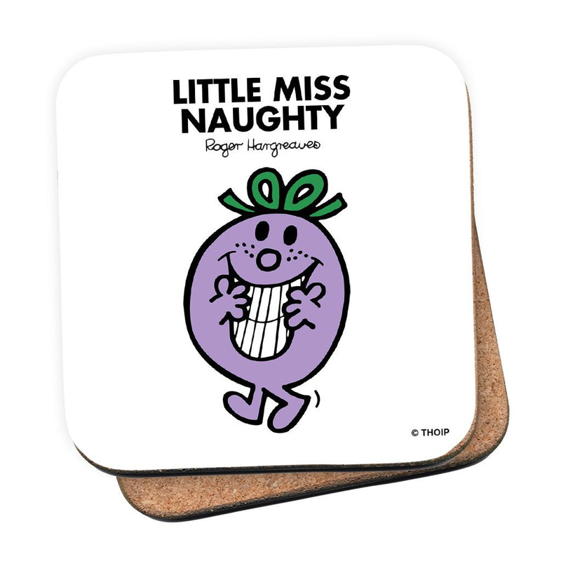 Little Miss Naughty Cork Coaster