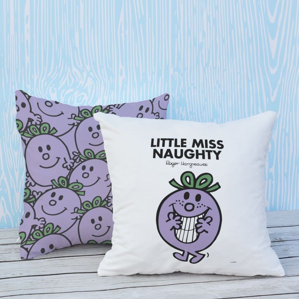 Little Miss Naughty Micro Fibre Cushion (Lifestyle)