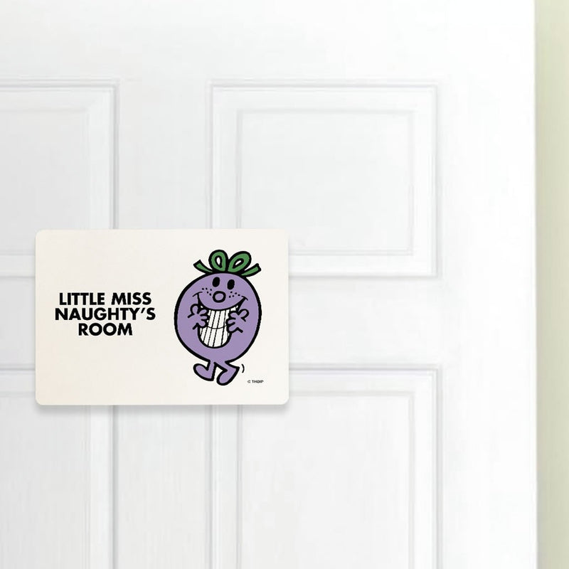 Little Miss Naughty Door Plaque (Lifestyle)