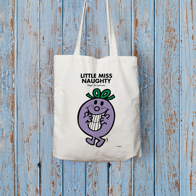 Little Miss Naughty Long Handled Tote Bag (Lifestyle)