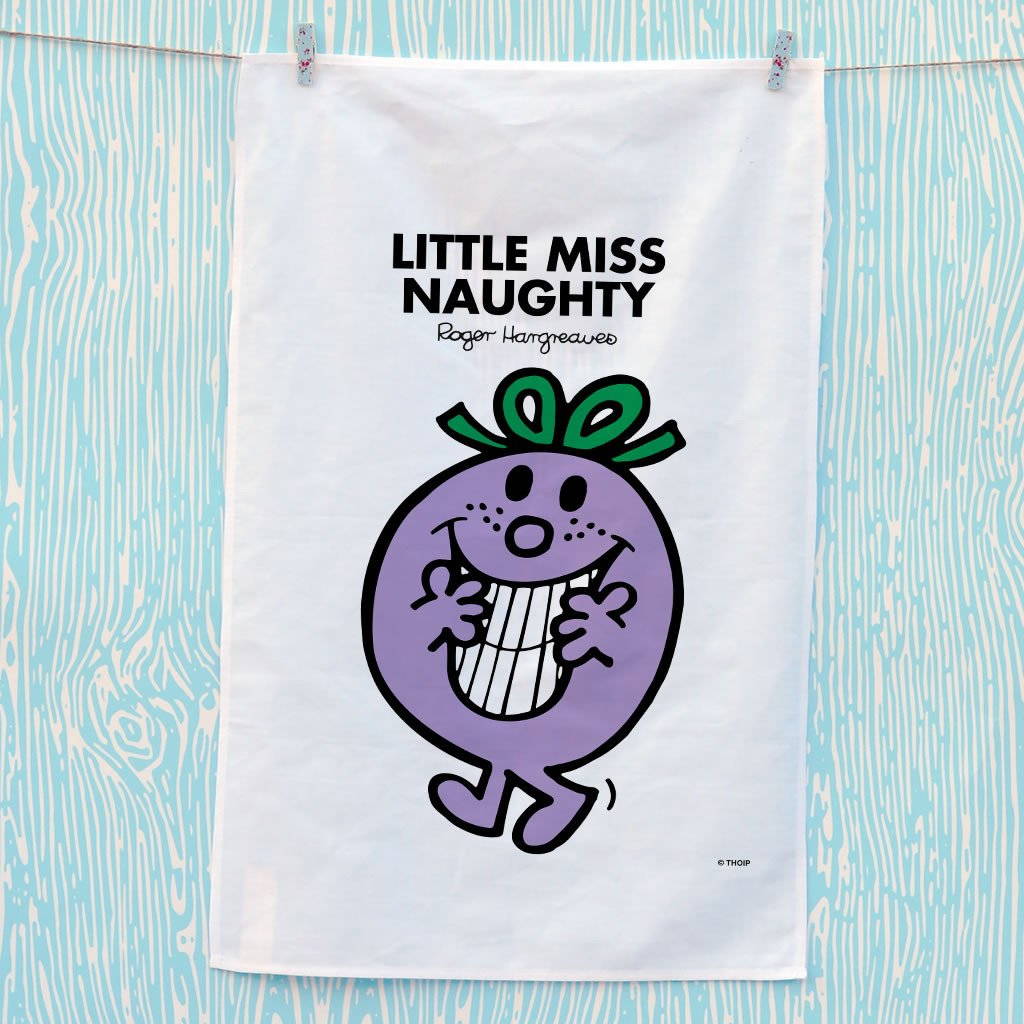 Little Miss Naughty Tea Towel (Lifestyle)