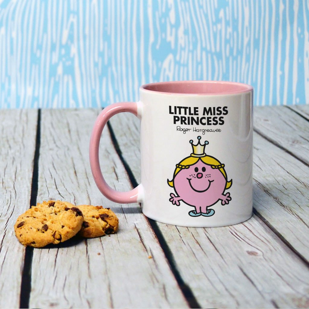 Little Miss Princess Large Porcelain Colour Handle Mug (Lifestyle)