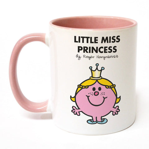 Little Miss Princess Large Porcelain Colour Handle Mug