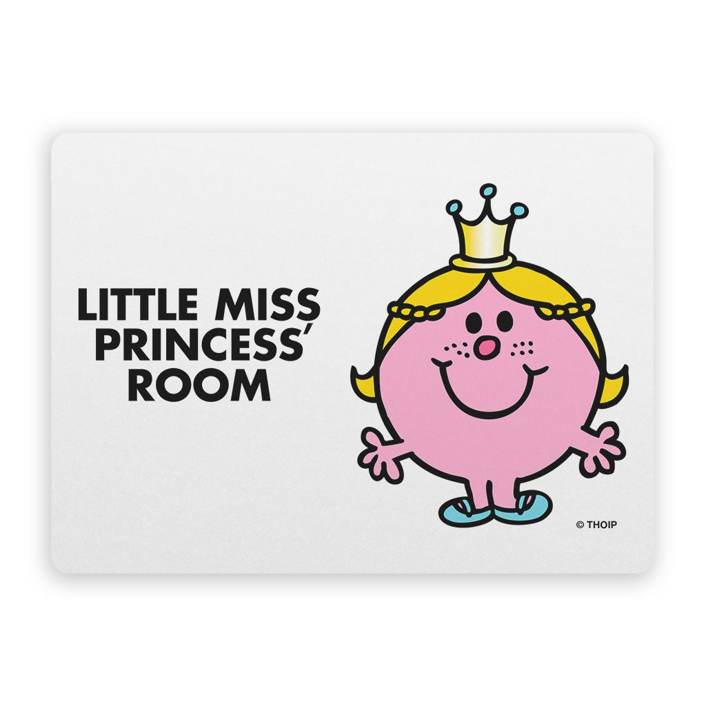 Little Miss Princess Door Plaque