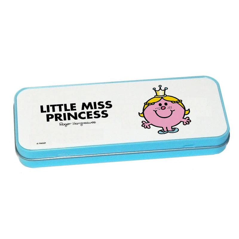 Little Miss Princess Pencil Case Tin (Blue)