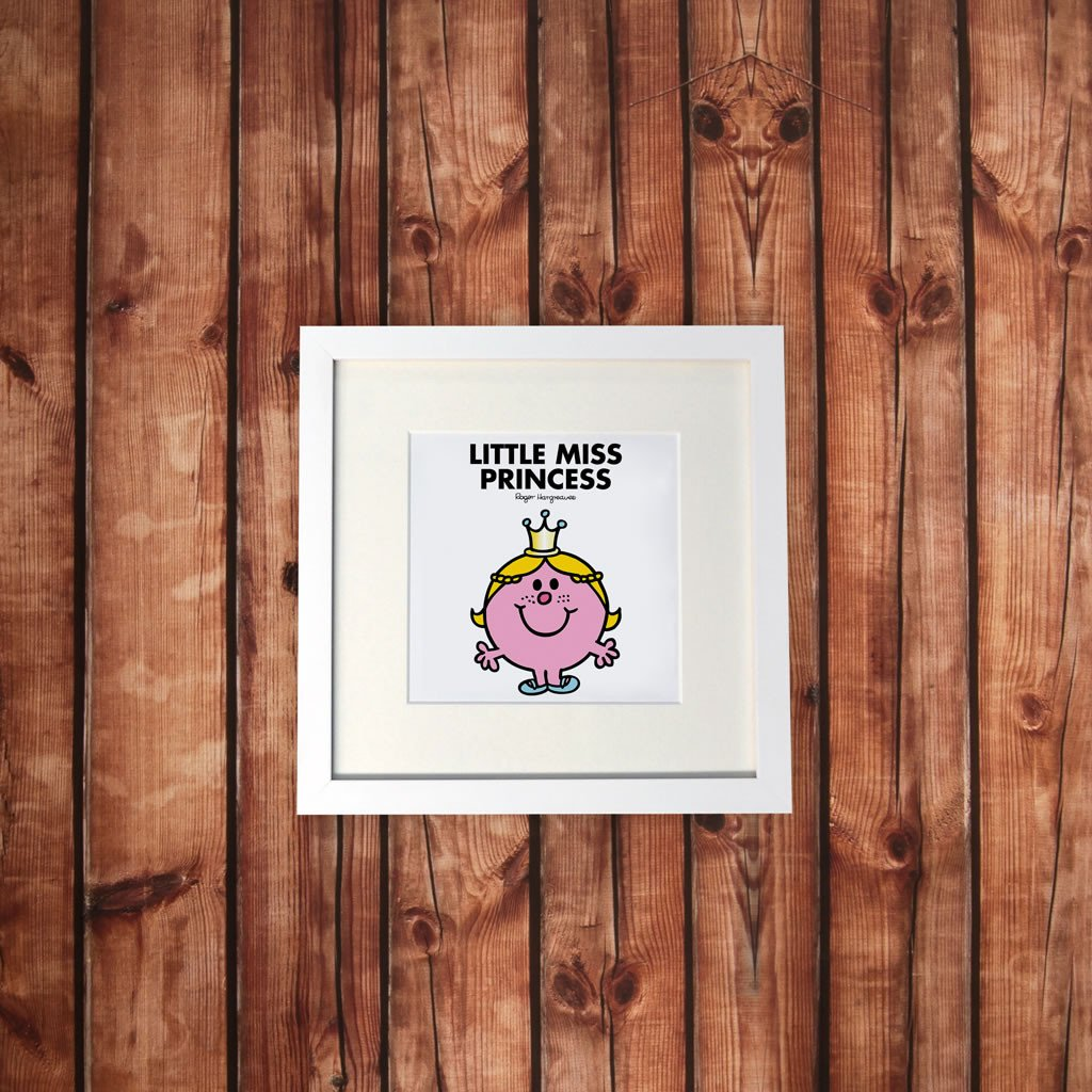 Little Miss Princess White Framed Print (Lifestyle)