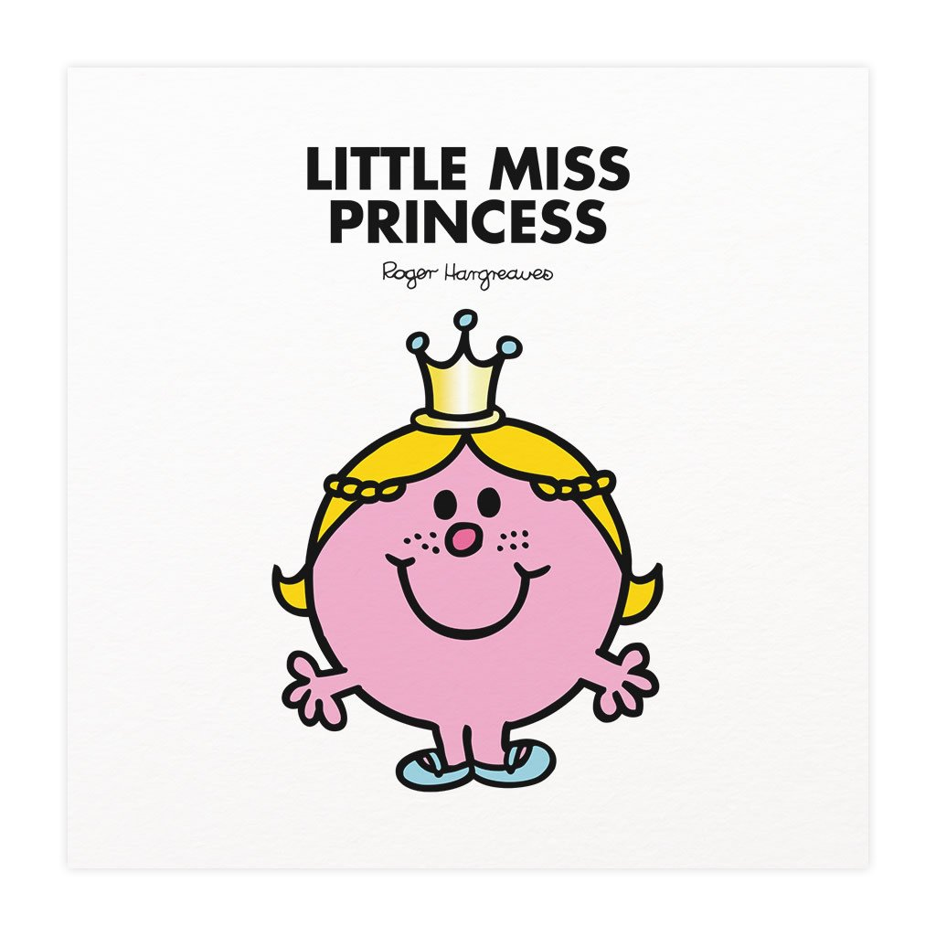 Little Miss Princess Mounted Art Print