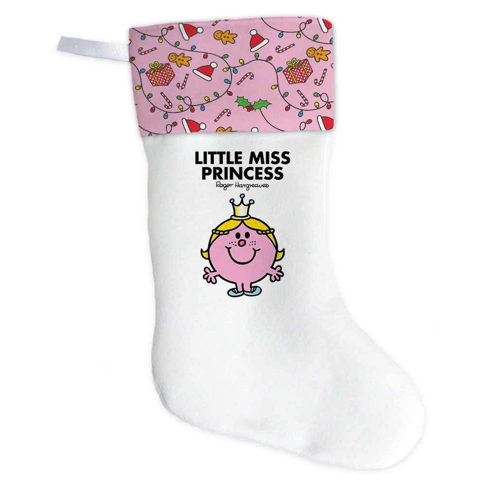 Little Miss Princess Christmas Stocking (Front)