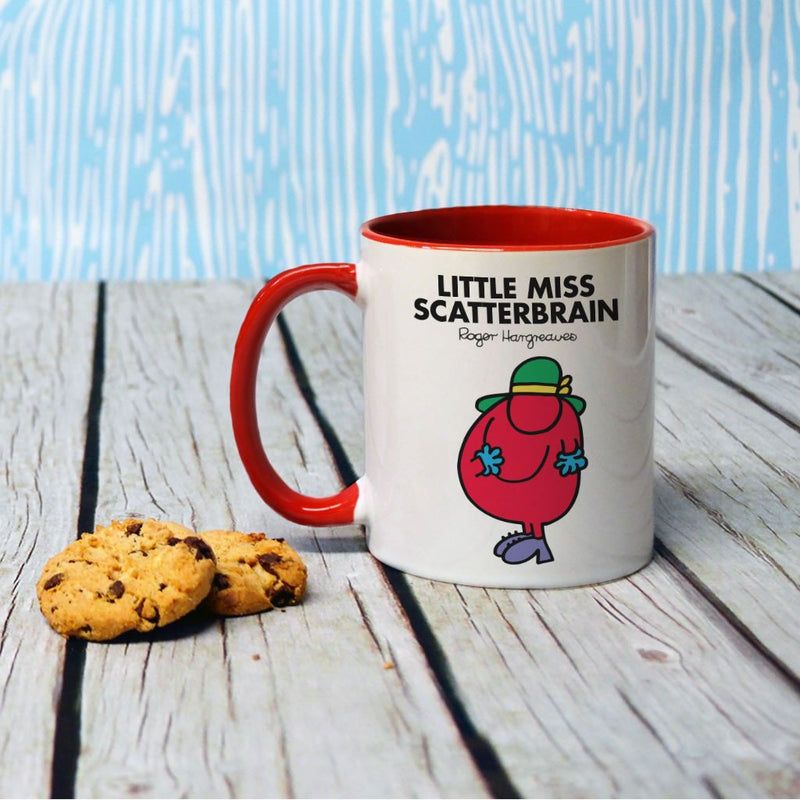 Little Miss Scatterbrain Large Porcelain Colour Handle Mug (Lifestyle)