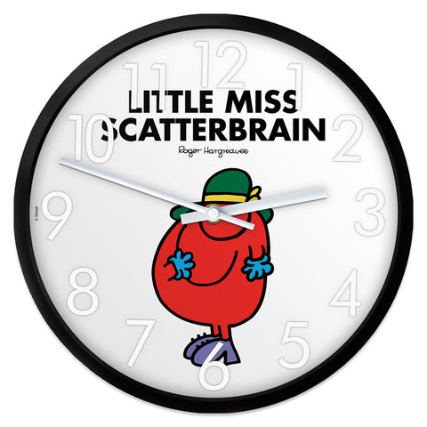 Little Miss Scatterbrain Personalised Clock