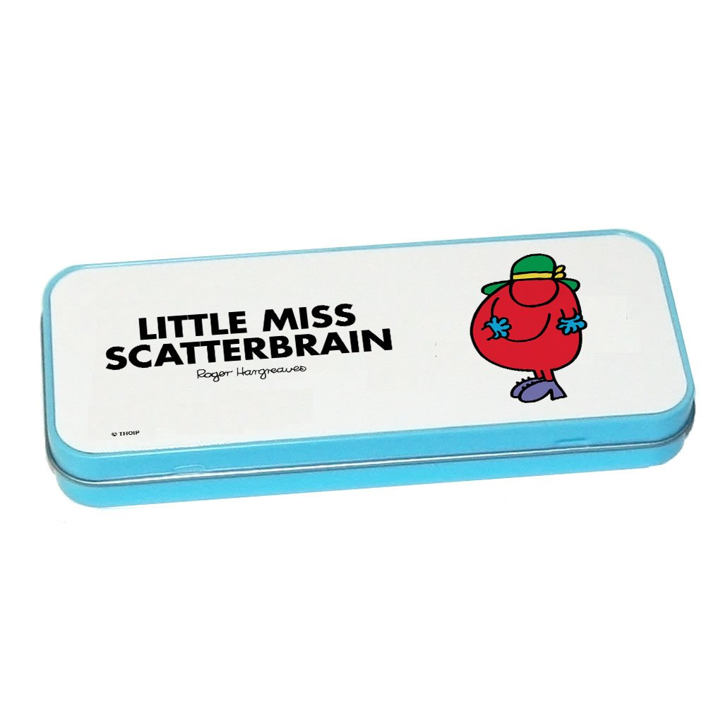 Little Miss Scatterbrain Pencil Case Tin (Blue)