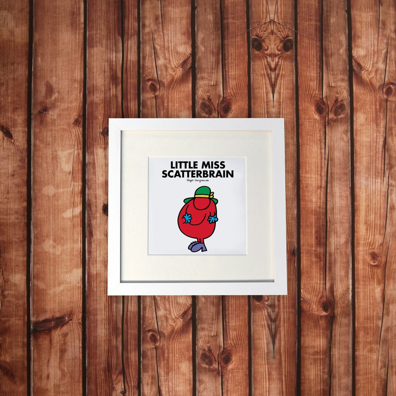 Little Miss Scatterbrain White Framed Print (Lifestyle)